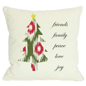 Holiday Christmas Tree Reversible Throw Pillow