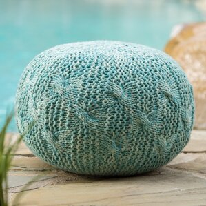 Morrow Indoor/Outdoor Fabric Weave Pouf Otto..