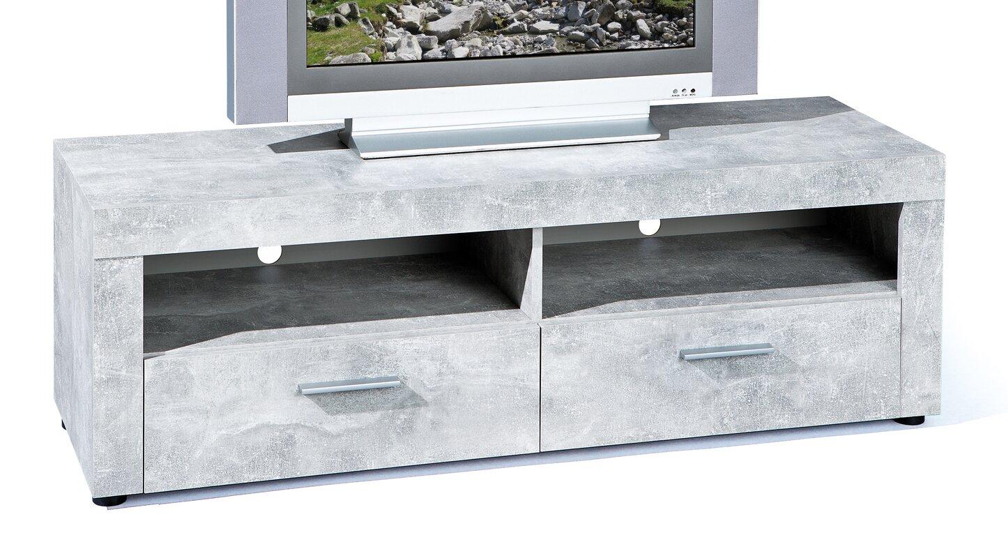 homestead living tv lowboard beton f r tvs bis zu 50. Black Bedroom Furniture Sets. Home Design Ideas