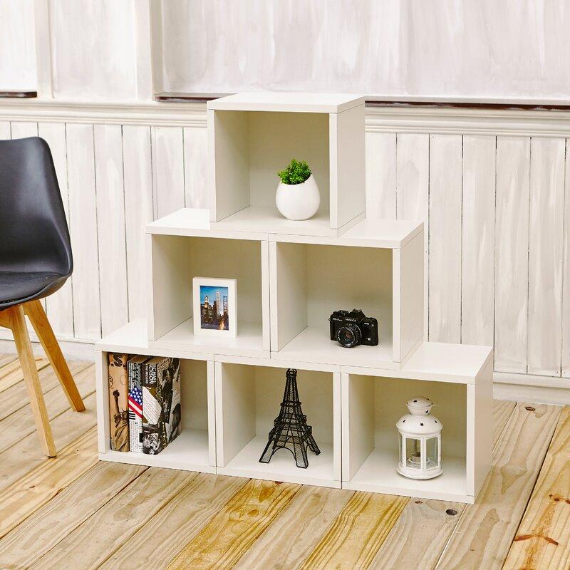 Mercury Row Daniell Stackable Organizer Cube Unit Bookcase