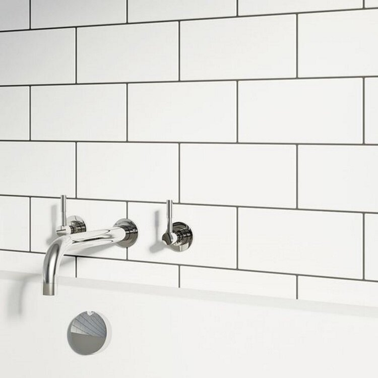 Ws Tiles Value Series 4 X 8 Ceramic Subway Tile In White Reviews