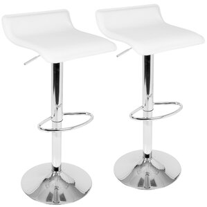 Dan Adjustable Height Swivel Bar Stool (S..