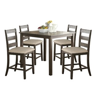 Gerke 5 Piece Counter Height Dining Set Today Only Sale