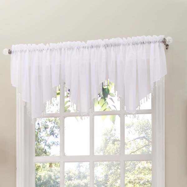 awesome Voile Valance Part - 5: Crushed Sheer Voile Valance | Wayfair