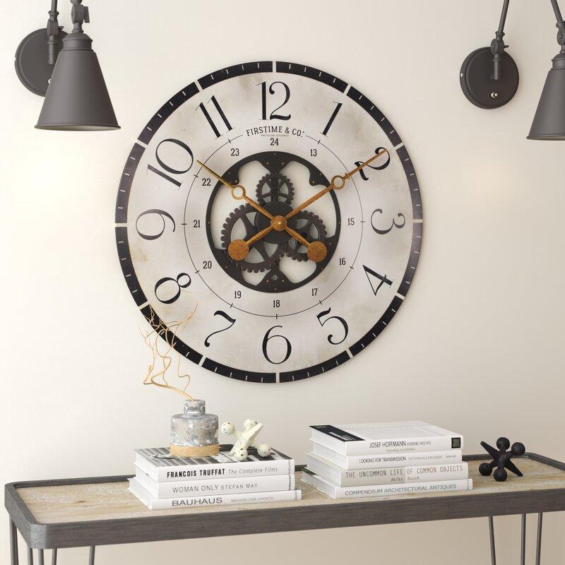 Oversized Deseret Gears 27 Wood Wall Clock