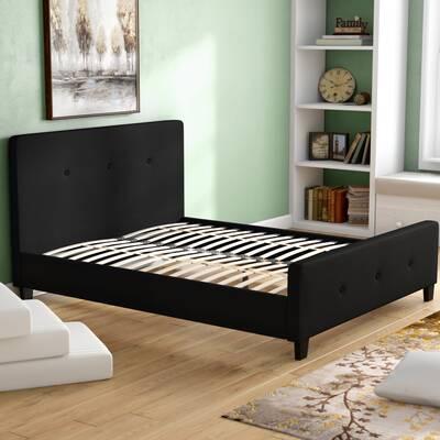 55327b1929529 Charlton Home Porcaro Tufted Upholstered Platform Bed   Reviews ...