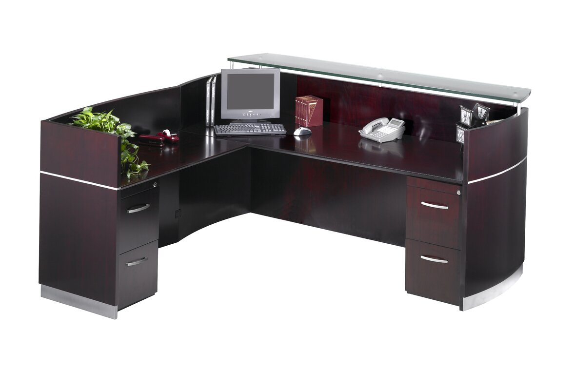 Napoli Series L-Shape Reception Desk