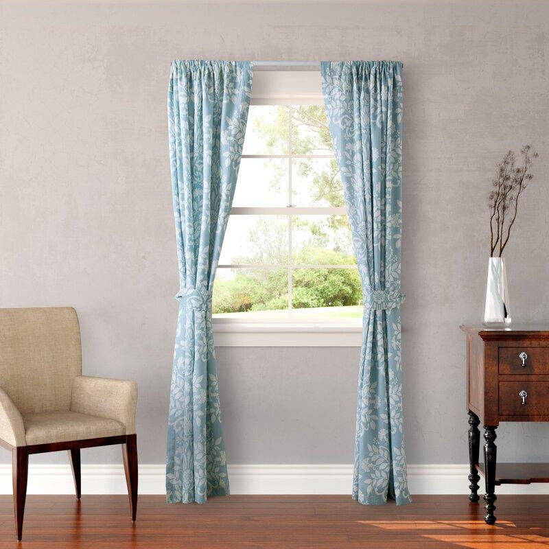 Rowland Breeze Nature/Floral Semi-Sheer Rod Pocket Curtain