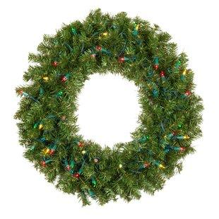 Prelit Lighted Douglas Fir Wreath. by The Holiday Aisle