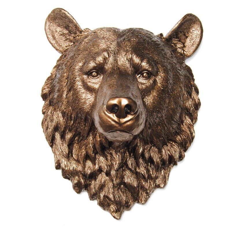 Near and Deer Faux Taxidermy Bear Head Wall Décor   Wayfair