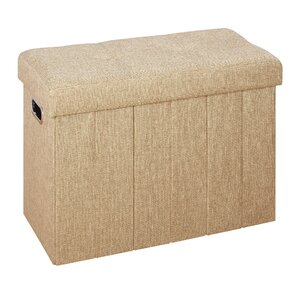Collapsible Bench and Hamper Ottoman by Rebrilliant