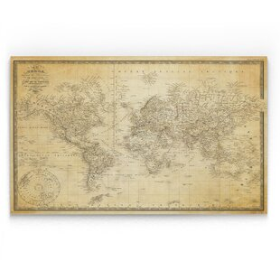 Vintage Looking World Map.Vintage World Map Wayfair