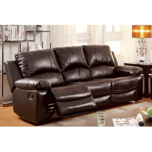 Hokku Designs Luria Leather Reclining Sofa