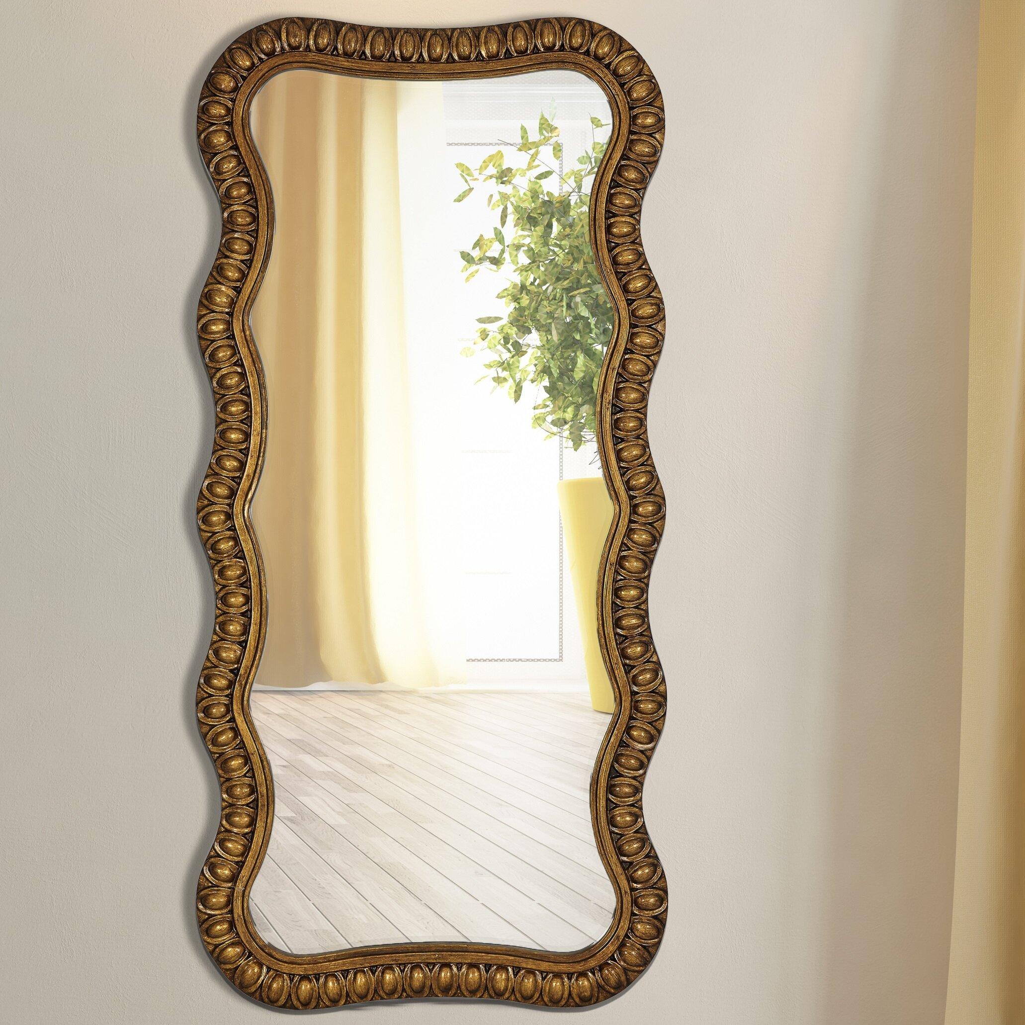 Majestic Mirror Wavy Beveled Glass Framed Wall Mirror | Wayfair