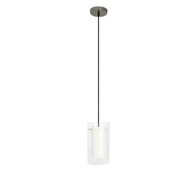 1-light Cylinder Pendant Efficientlighting Finish: Creme
