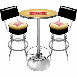 Ultimate Miller High Life 3 Piece Pub Table Set