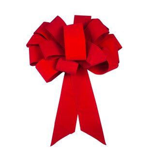 magnetic velvet car ribbon and bow by queens of christmas