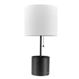 Modern contemporary table lamp with usb port allmodern eisenman 19 table lamp mozeypictures Choice Image