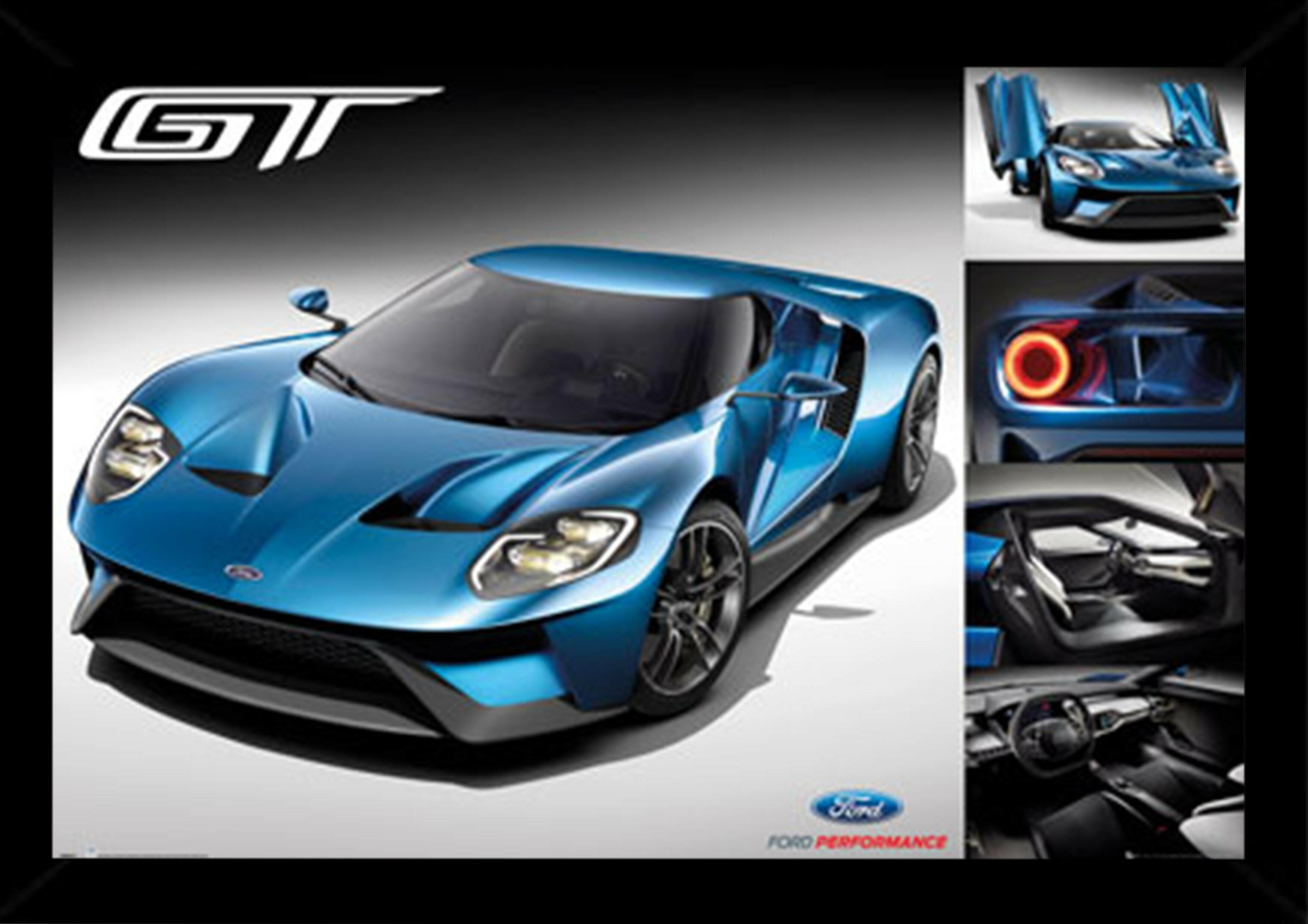 Frame USA \'Ford GT 2016\' Framed Graphic Art Print Poster   Wayfair