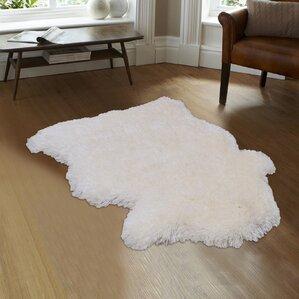 Devyn High Quality Faux Sheep Non Shedding Ultra Soft Solid Shaggy Polar  Bear