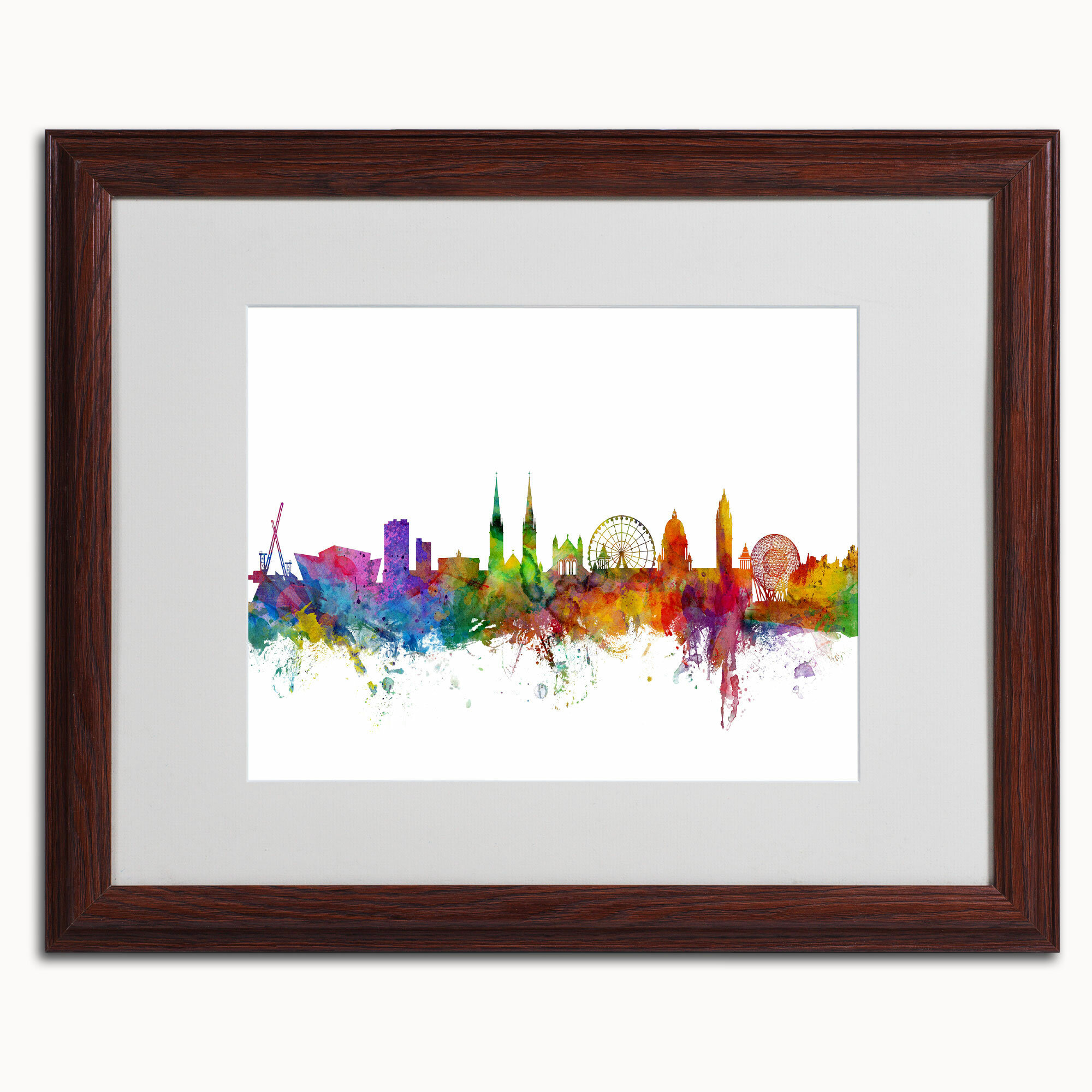 Trademark Art Belfast Northern Ireland Skyline Ii By