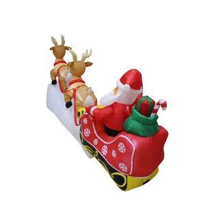 santa reindeer inflatable wayfair