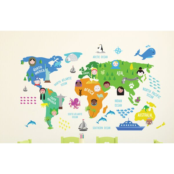 World map wall sticker wayfair gumiabroncs Image collections