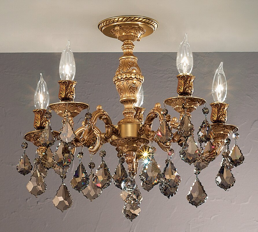 Chateau 5-Light Semi-Flush Mount