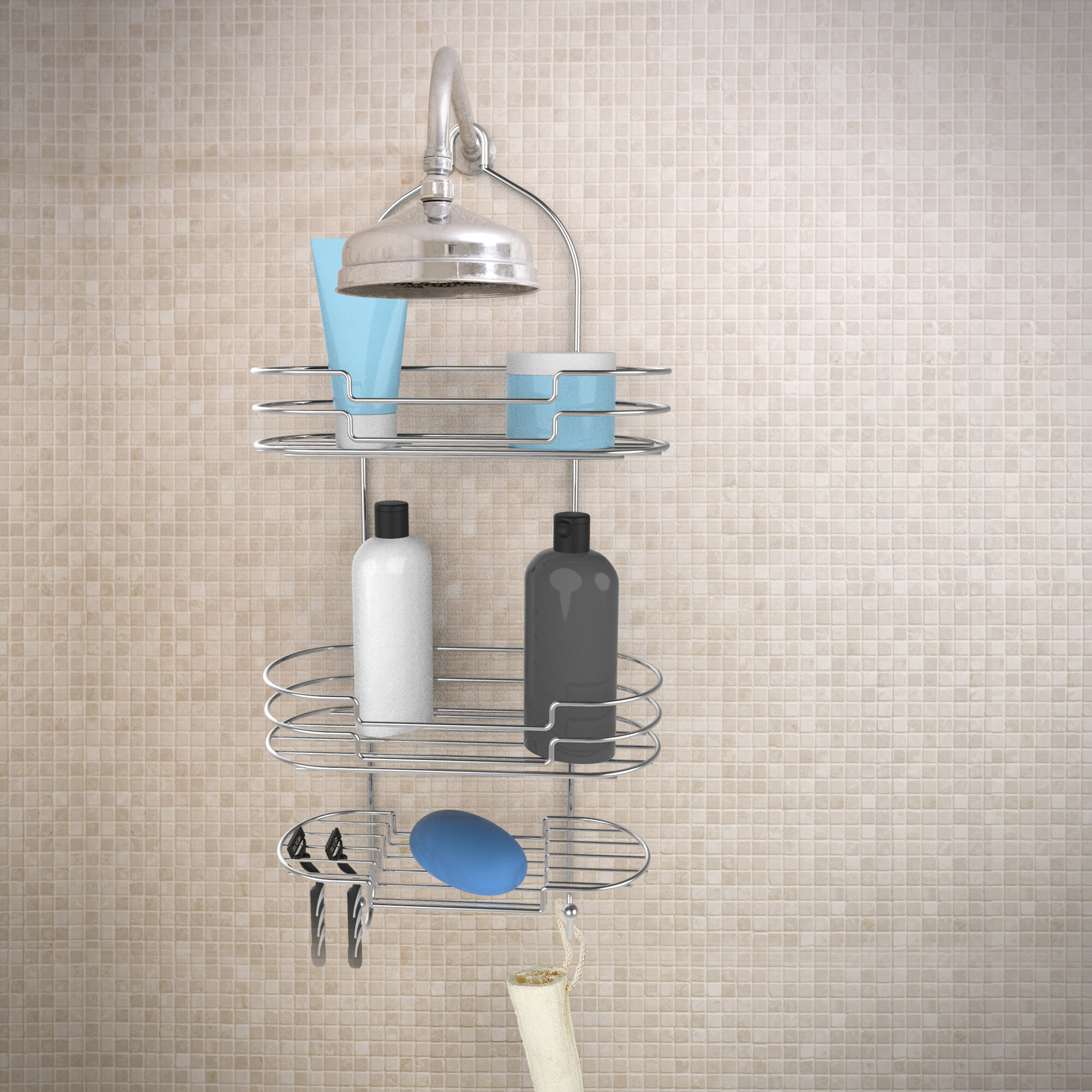 Rebrilliant Tall Shower Caddy | Wayfair