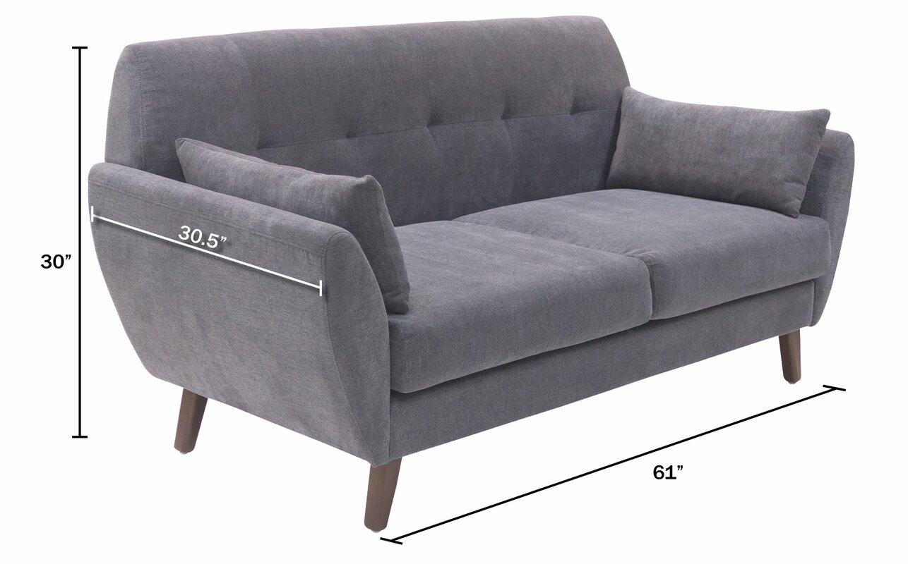 Amelie Mid Century Modern Sofa