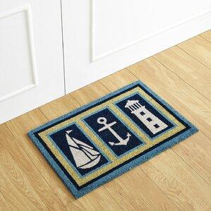 nautical coir doormat