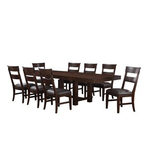 Norden 9 Piece Dining Set by Three Posts