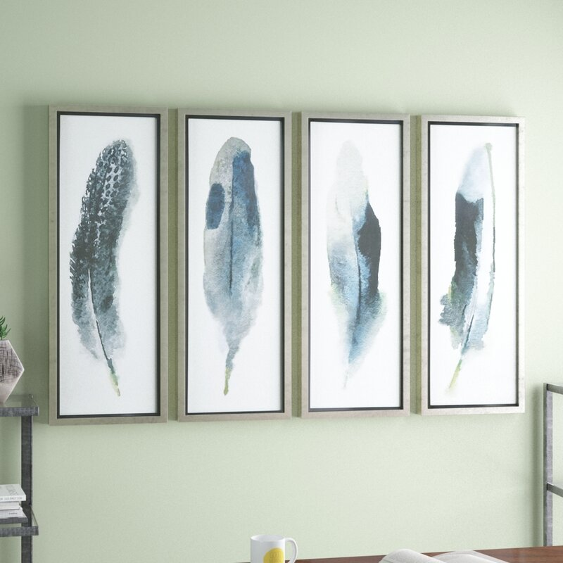 feathered beauty prints piece framed graphic art set reviews