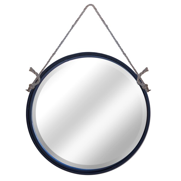 Round Metal Mirror With Rope Part - 27: Beachcrest Home Anupam Metal Round Rope Hanging Mirror U0026 Reviews | Wayfair
