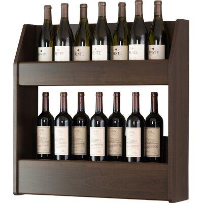 Ebern Designs Kinard 24 Bottle Wall Mounted Wine Rack Finish: Espresso