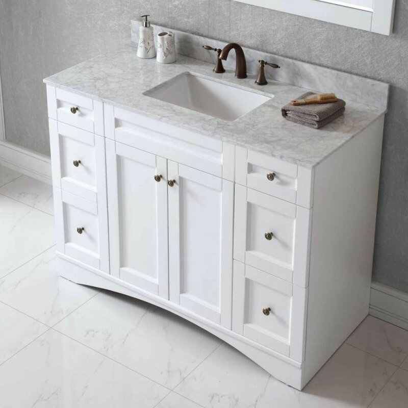 bathroom sink toilet cabinets virtu usa elise 47 quot bathroom vanity base amp reviews wayfair 11676