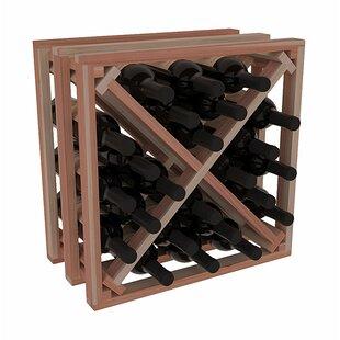 Karnes Redwood Lattice X-Cube 24 Bottle Tabletop Wine Rack