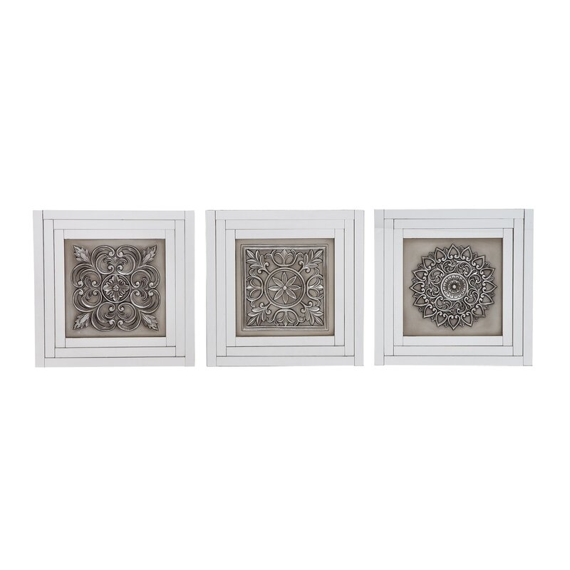 One Allium Way Elegant Styled Gray Metal Wall Art Set & Reviews ...