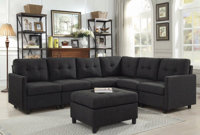Excellent Brewer Reversible Modular Sectional With Ottoman Download Free Architecture Designs Scobabritishbridgeorg