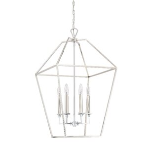 Padminie Polished Nickel 6-Light Foyer Pendant