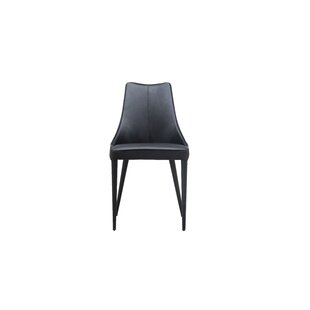 Saramarie Genuine Leather Upholstered Dining Chair (Set of 2)