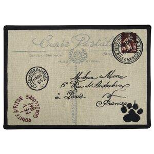 Postale Paw Tapestry Pet Mat