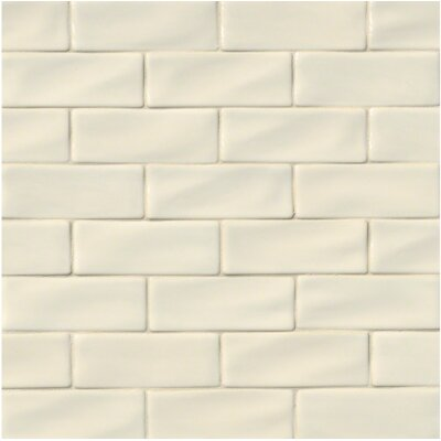 Handcrafted 3 X 6 Ceramic Subway Tile In Antique White