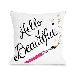 New Hello Gorgeous Pillow   Wayfair JM55