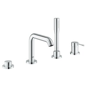 Essence New Single Handle Deck Mounted Tub Filler Trim with Personal Hand Shower