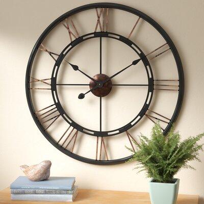 drew oversized metal wall clock