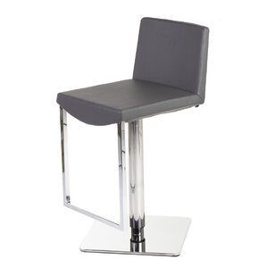 Adjustable Height Swivel Bar Stool by Stilnovo