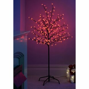 Pre Lit Led Illuminated Cherry Blossom Tree 200 Light Lamp