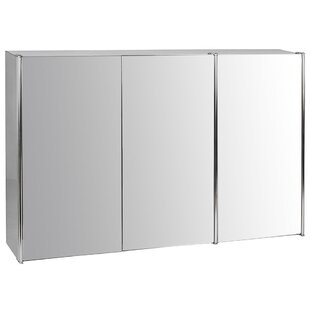 Bathroom Triple 68cm x 45cm Recessed Mirror Cabinet