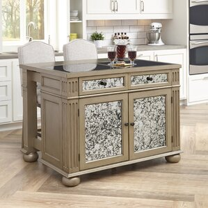granite kitchen islands & carts you'll love | wayfair
